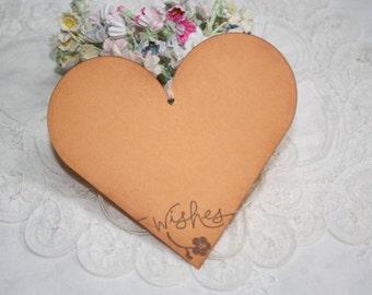 Wish Tree Wedding Tags - Orange Hearts - Wishes - Birthday Wish Tags - Shower Wish Tags - Set of 25