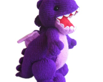 The Little Purple DRAGON Pdf Email Knit PATTERN