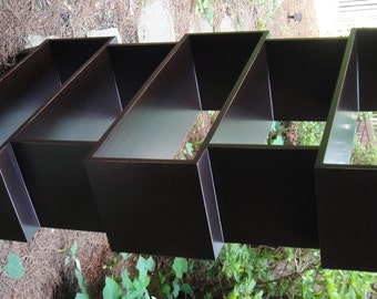 mr2 Custom Mid Century Bookcase With A Warm And Aged Look