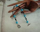 Donia's N2Beadz... Swarovski Crystals and Turquoise Glass Bead Bracelet