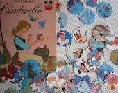 Scalloped Round Die Cuts Cinderella From Vintage Walt Disney Children's Book