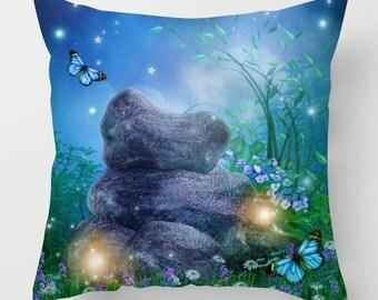 Dreamscape Enchanted meadow fantasy cushion /pillow