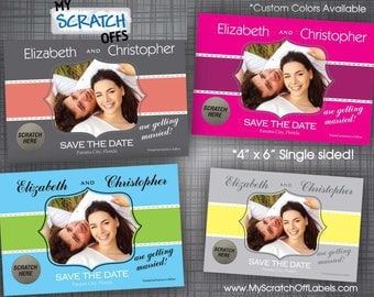 Save The Date Scratch Off Trendsetting Wedding Photo Scratch-Off Postcard Announcement (100 qty)