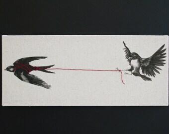 Heartstings Silk Screen Canvas
