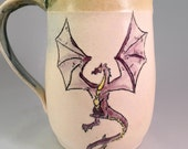 Purple Dragon Beer Stein or Mug