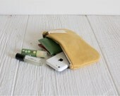 Vegan Suede Clutch, Yellow Clutch, Bridesmaid Gift, Ecofriendly Purse