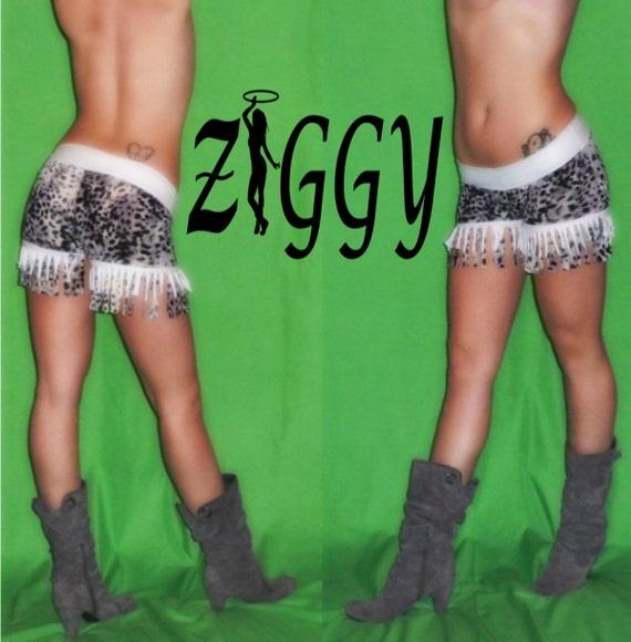 Custom Fringe Shorts in Print