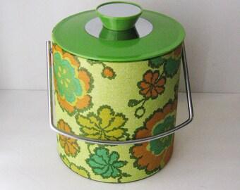 Vintage Floral Ice Bucket