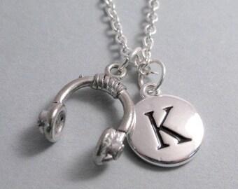 Headphone Charm Silver Plated Charm Jewelry Supplies