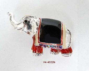 FREE SHIP Whimsical Vintage Circus Elephant Brooch (4-4322)