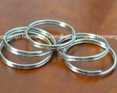 "100 1"" Key Rings Key Chains 1 inch Split Rings Nickel Plated K27-100"