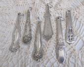 Ornate Silver Plate Silverware Key Chain - Choose Your Pattern
