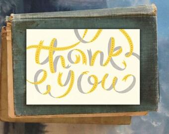 Thank You Ribbon // Single Card // Fawnsberg Stationery