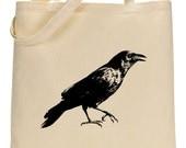 Crow natural tote bag