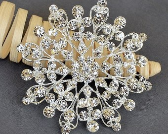 Rhinestone Brooch Embellishment Crystal Wedding Bridal Brooch Bouquet Cake Invitation Hair Comb Shoe Clip Pin DIY Supply BR355