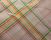Country Fair Plaid Perma Prest Percale Sheet  TWIN FLAT Sheet - New in Package