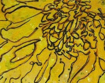 yellow peony (print)