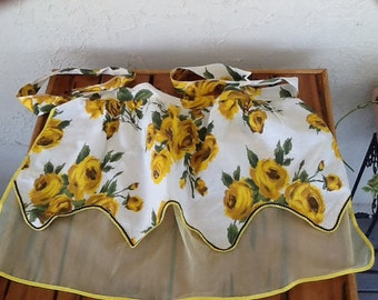 Vintage Yellow Rose and Sheer Yellow Apron