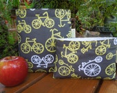Reusable snack and/or sandwich bag - Gender neutral sandwich bag-Reuse snack bag - For the bike lovers - Bicycles
