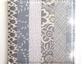Coasters Quilted Made with Gorgeous Greys/Grays  Set of 4