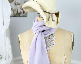 Lavender cashmere scarf