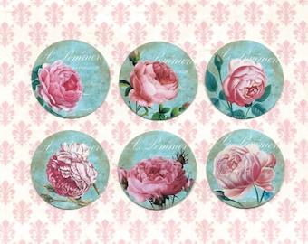 Sticker Seals Vintage Style Roses 18 pcs