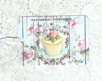 Tags, French Style Bakery Tags, Cupcake Tags