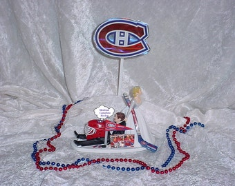 hockey themed wedding cake toppers popular items for pulling groom on etsy 15262