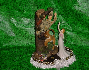 Handmade Camouflage Wedding Cake Topper Etsy