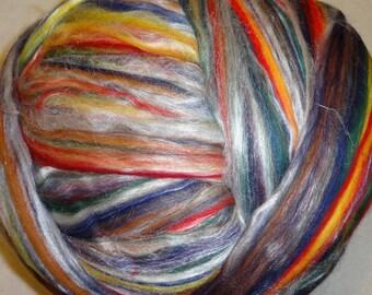 Merino Silk Roving, Merino Roving, Silk Roving, Merino Tussah Silk Roving, Spinning Wool, Spinning Silk - Jamaica 8oz