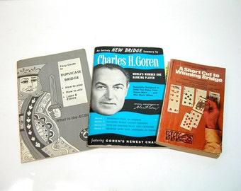 Vintage Bridge Books, Guide To Duplicate Bridge, Winning Bridge, Charles H. Goren New Bridge