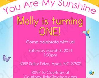 You are my Sunshine Birthday Party Invitation