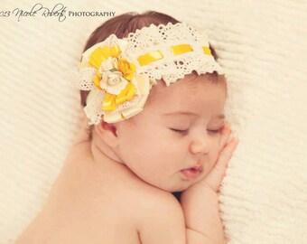 Lace Headband,Baby Headband,Baby Lace Headband,Lace Baby Headband,Newborn Headband,Bridesmaid headband, Bridal headband,Madeline headband