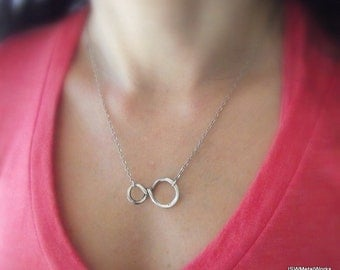Endless Loops - Silver Infinity Pendant, Silver Necklace