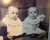 1890 Cabinet Card of What Has to be World's Cutest Twins
