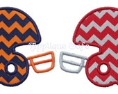 185 Football Helmets Machine Embroidery Applique Design
