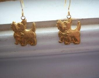 Terrier Earrings - Dog Earrings  - Schnauzer  Dog Earrings