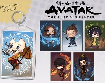 Avatar the Last Airbender Keychain Double-Sided