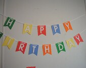 Polka Dot Happy Birthday Banner