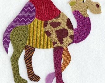 PATCHWORK CAMEL - Machine Embroidered Quilt Blocks(AzEB)