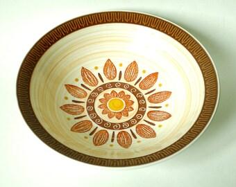 Merida Ironstone Fall Sunflower Large Serving Bowl  - Made in Japan