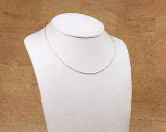 Sterling silver tiny beads necklace