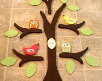 wooden tree, tree wall art, nursery decor, owl nursery, room decor, kid's room decor, woodland nursery, tree wall decor, tree for wall