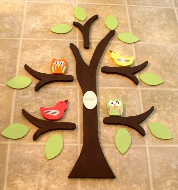 wooden tree, tree wall art, nursery decor, owl nursery, room decor, kid's room decor, woodland nursery, tree wall decor, tree for wall