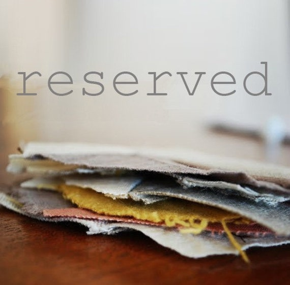 reserved for pance - charcoal waxed carry bag