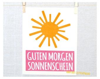 items similar to good morning sunshine nursery wall art printable on etsy. Black Bedroom Furniture Sets. Home Design Ideas