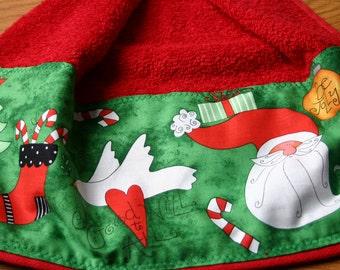 CIJ Kitchen Towels Santa Christmas kitchen towel hanging style for door