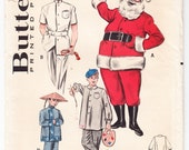 Vintage 1959 Butterick 6246 Sewing Pattern Mens' or Boy's Costumes For Masquerade or Fancy Dress Size 6-8 Chest 26