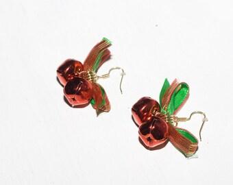 Red Jingle Bell  Accessory Earrings