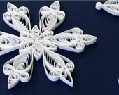 SALE - 20% OFF - Quilled Paper Snowflake Ornament/Decoration/Embellishment - Nicole